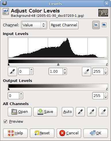 GIMP Levels