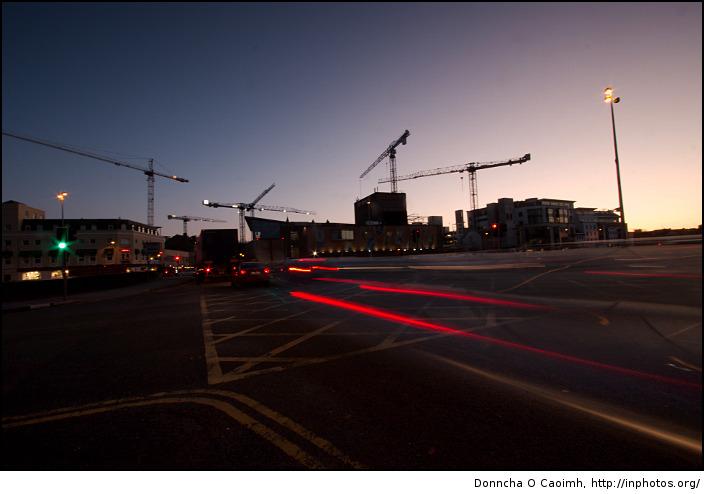 Light Streaks of City Traffic