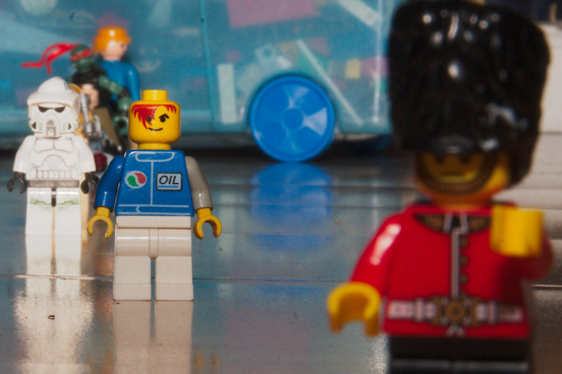 Lego characters shot at f/36