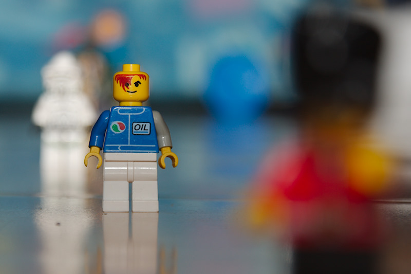 Lego characters shot at f/5.6