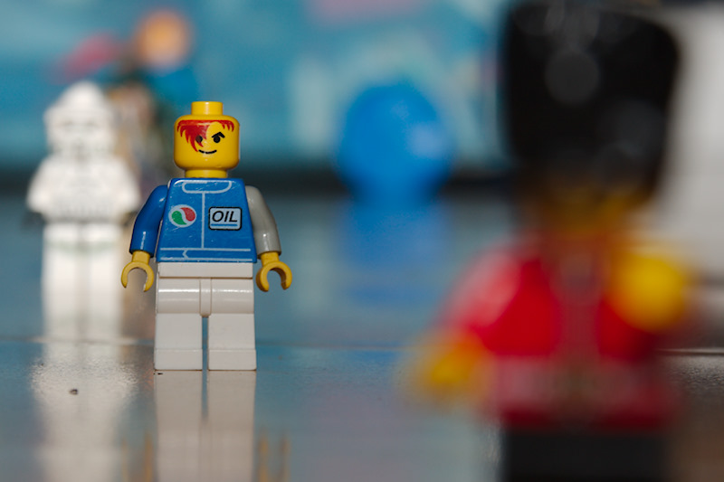 Lego characters shot at f/8