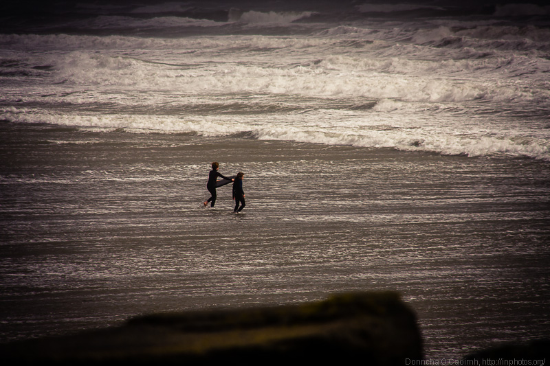 Braving the water at Garrettstown