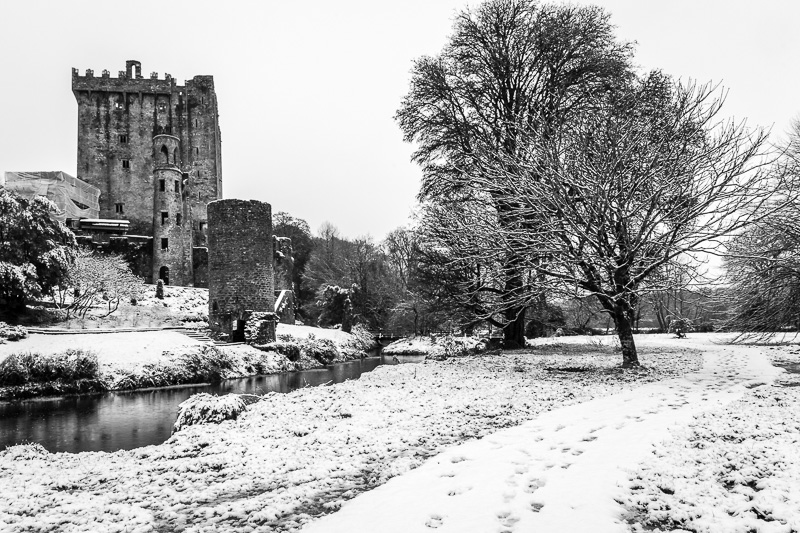 Blarney Castle in the Snow