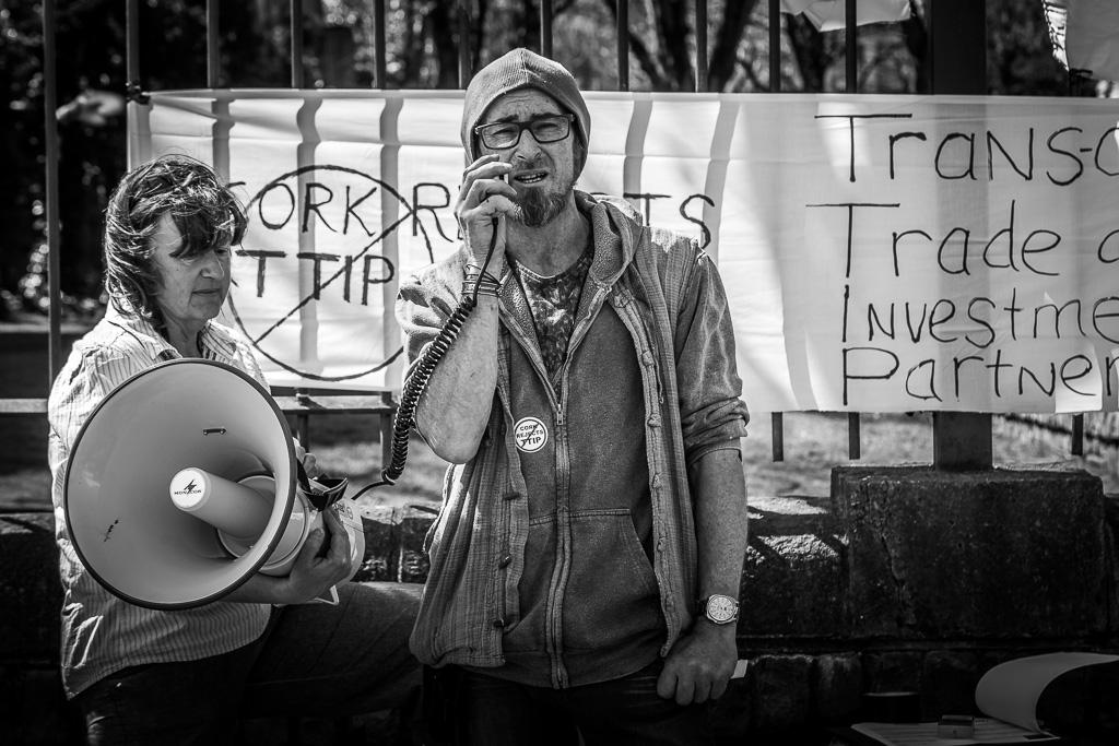 TTIP Protestor