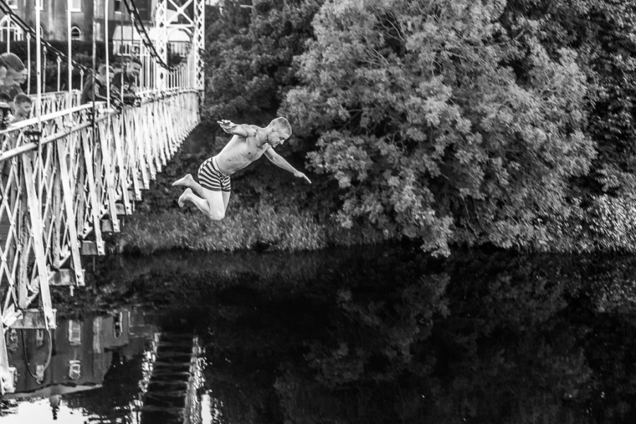 Jumping off the Shakey Bridge