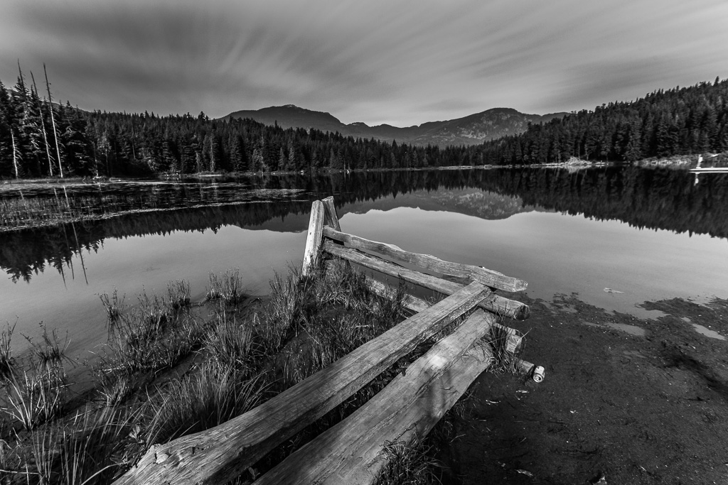 Lost Lake in Black and White