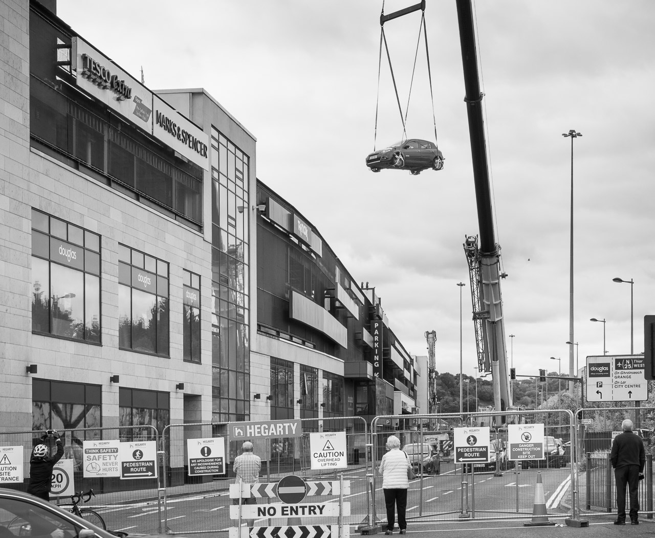 Removal of cars from Douglas Village Shopping Centre car park