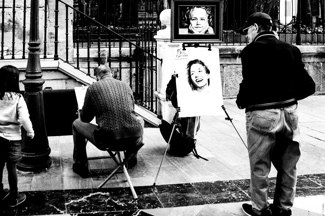 Street Portrait in Malaga