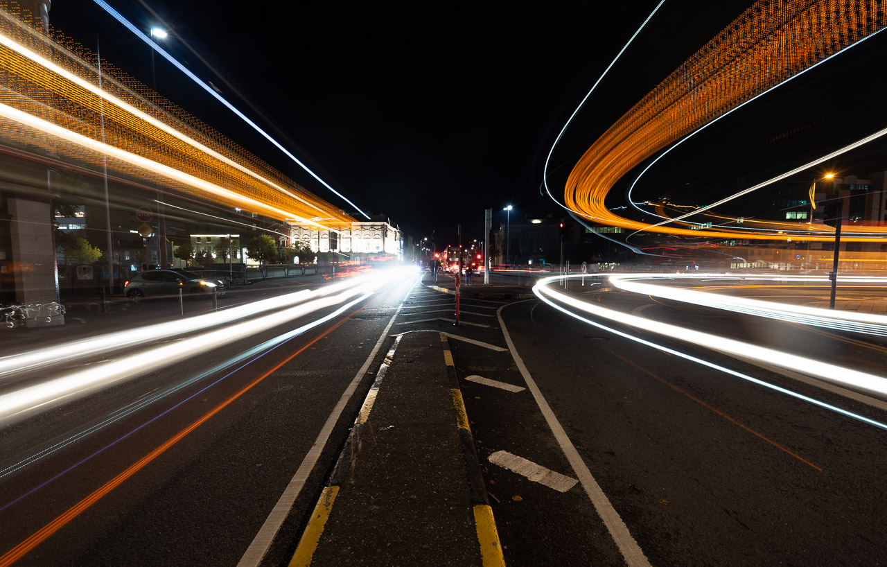 Light Trails on Anglesea Street