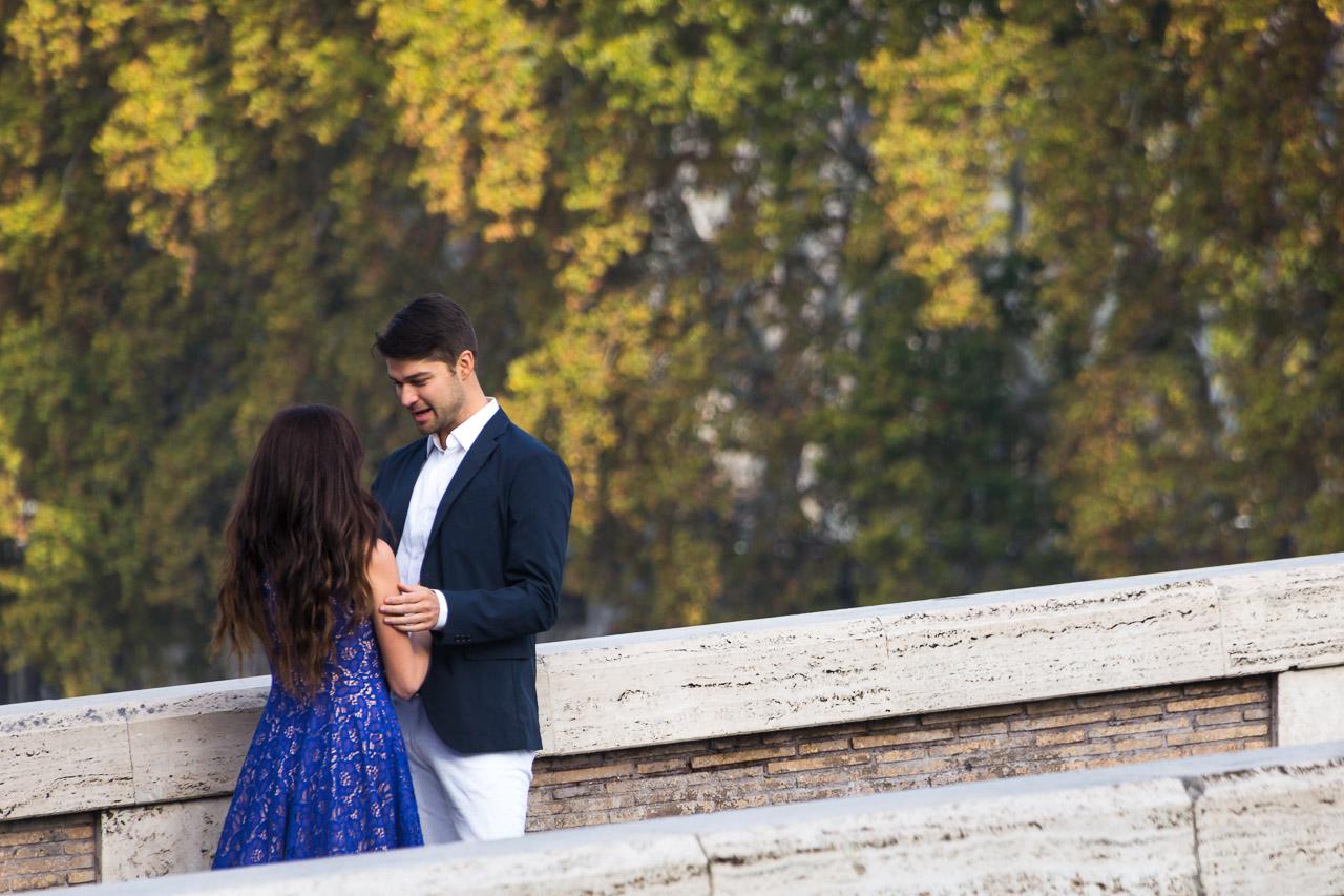A meeting on a bridge
