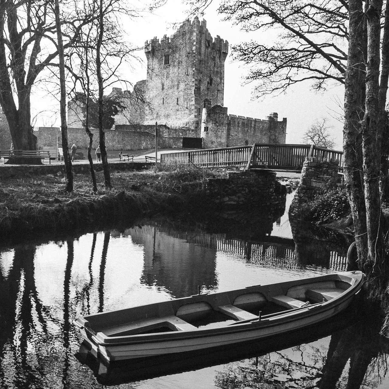 Ross Castle and the Boat