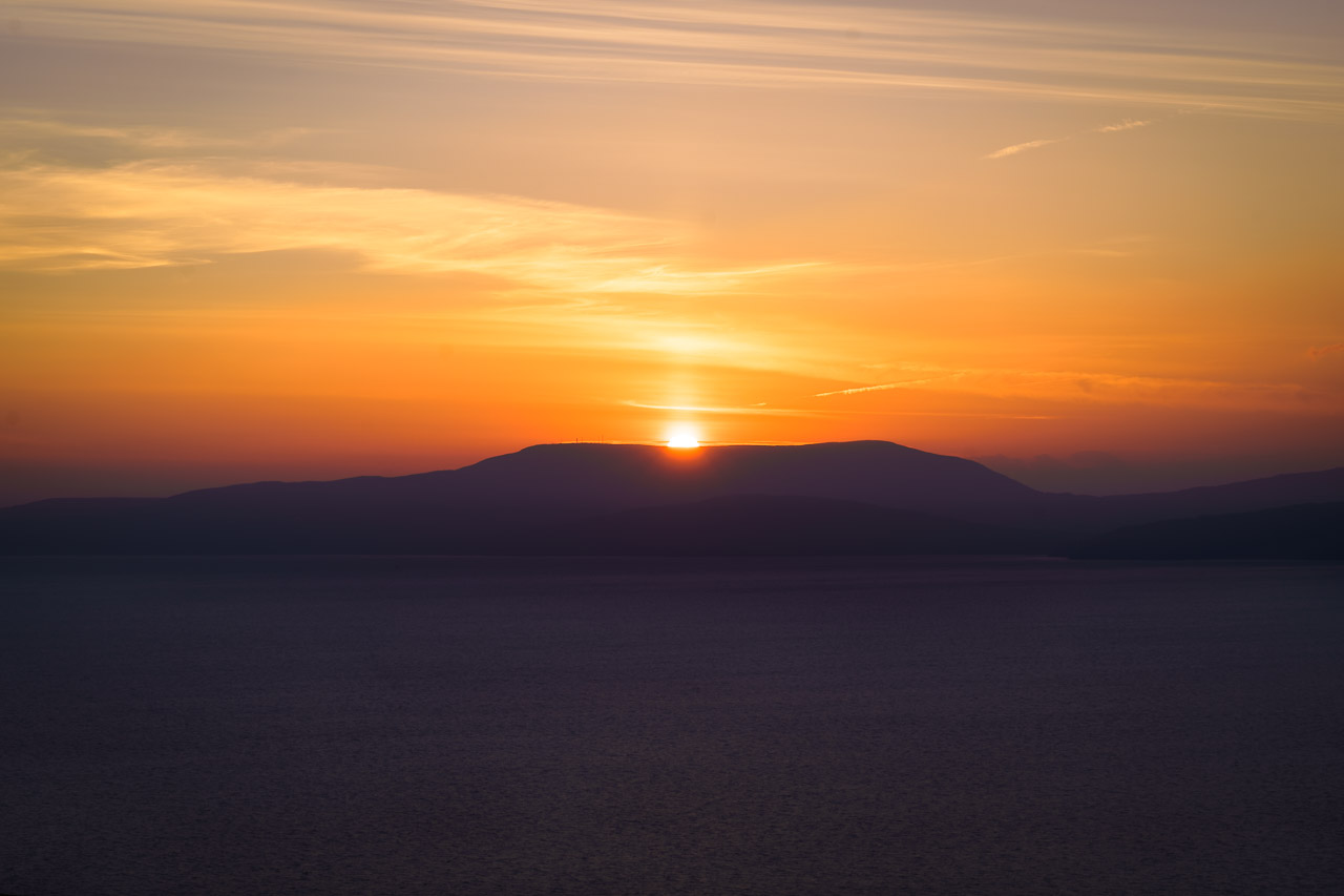 Sunset over the Beara Peninsula