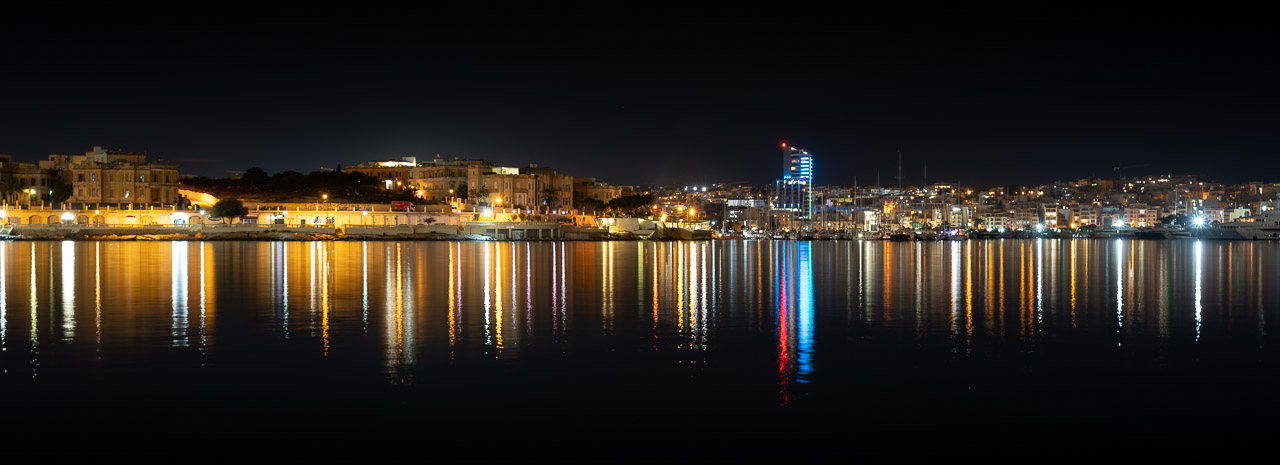 The Grand Harbour at Night