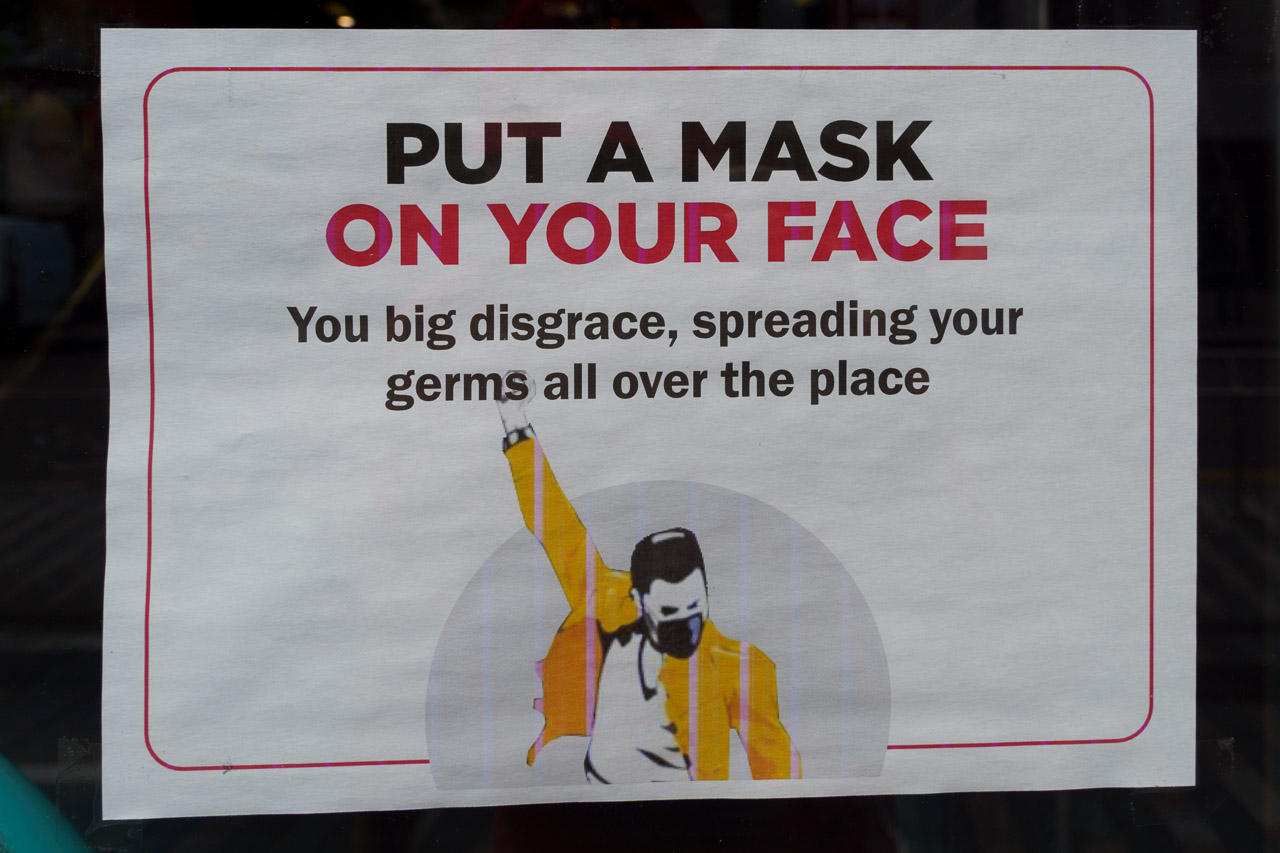 Put a mask on your face