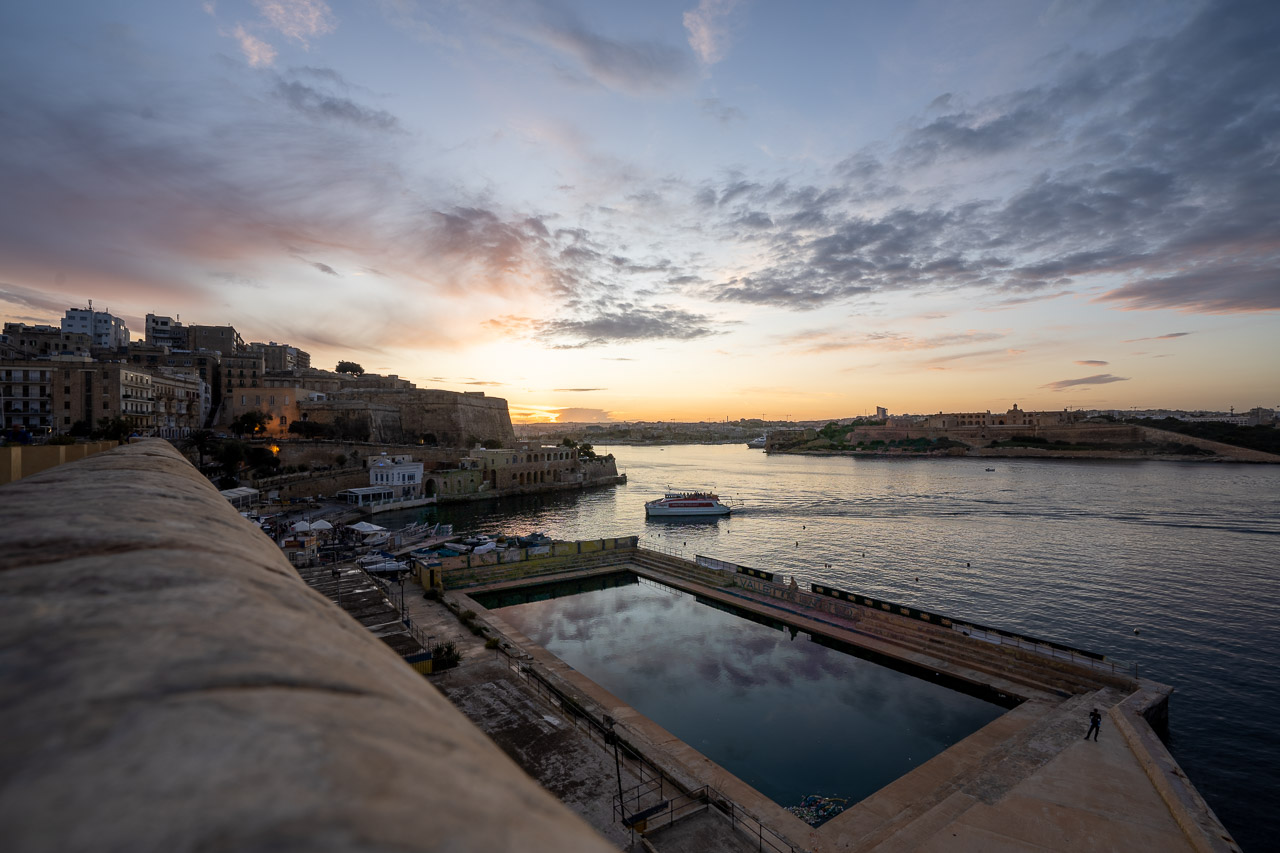 Looking down on the  Valletta United Waterpolo Pitch