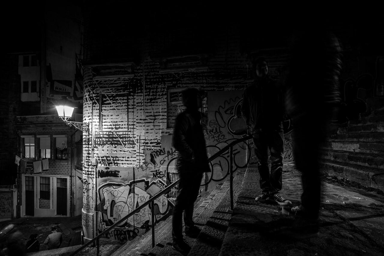 Dark Figures in the Night