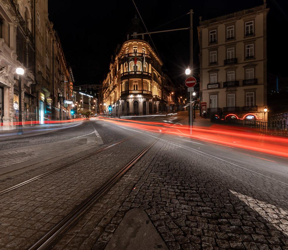 Light Trails in Porto