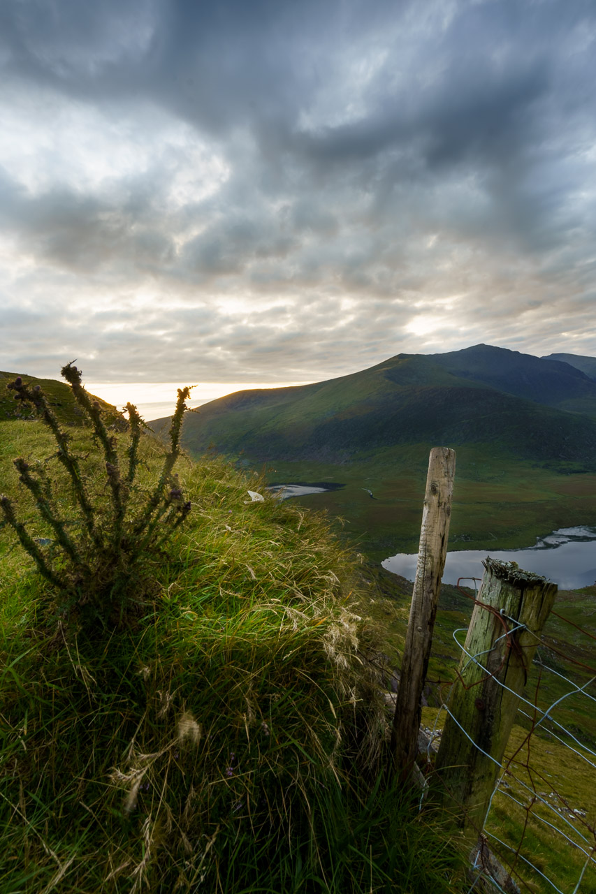 The Conor Pass under cloud