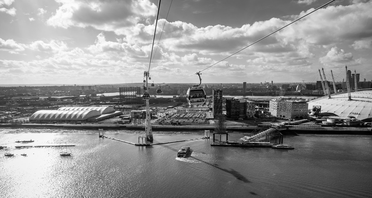 The view from the Emirates Air Line cable car
