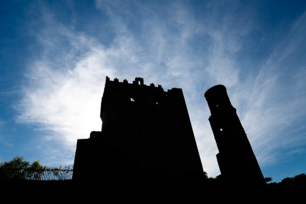 Blarney Castle in Silhouette