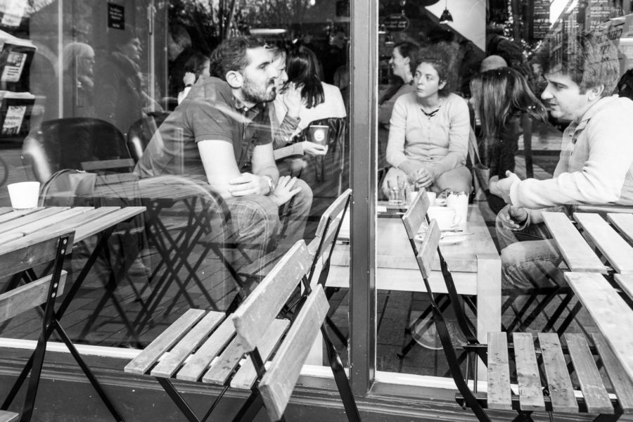 Chatting in a London Cafe