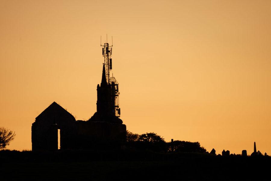 Templebreedy Church in Silhouette