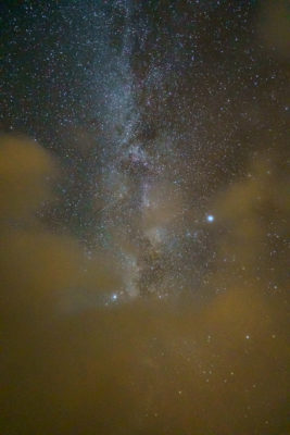 The Milky Way and the Cloud