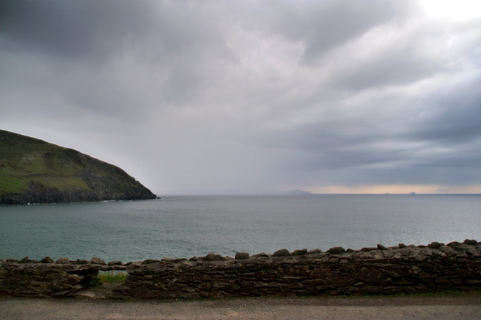 Rain blows over Slea Head