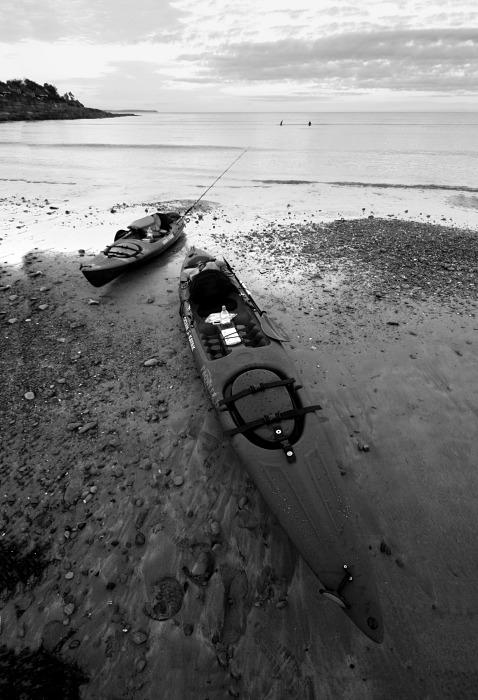 Kayaks on Fountainstown Beach